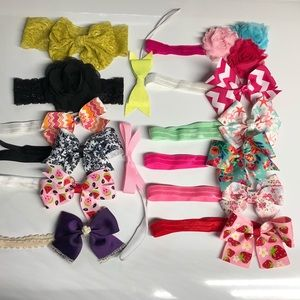 Other - Lot of 22 baby girl bow headbands 0-3 months